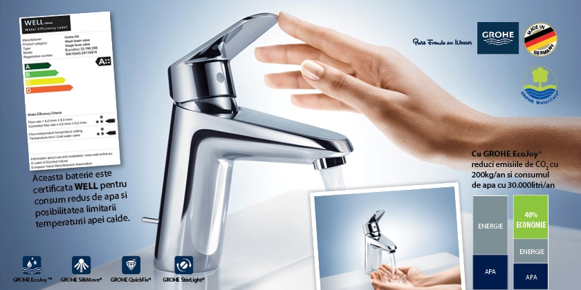baterie lavoar grohe